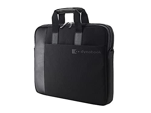 Bolsa para portátil Dynabook de 14 Pulgadas. Compartimento Acolchado para protección. Bolsillo para Accesorios. Asa cómoda y Correa para el Hombro. Estuche Resistente para computadora portátil