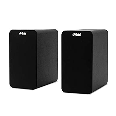 """JAM Bluetooth Bookshelf Speakers - Compact, Mains Powered Dual Speaker System, Aux-in Function, 4"""" Driver, High Definition Amplifiers, Richer Bass, Finer Acoustics - Black by FKA Brands"""