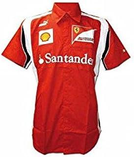 FERRARI Camisa Hombre Scuderia Rojo Talla L: Amazon.es: Deportes y aire libre