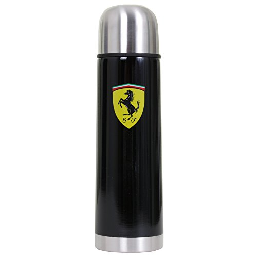 Branded London Scuderia Ferrari 500 ML Thermo Voyage Bouteille, Noir