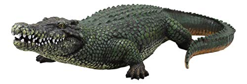 Ebros Gift 21' Long Realistic Alligator Crocodile Gallery Quality Statue As Home and Garden Decor Prank Shock Guest Greeter of Alligators Crocodiles Caiman Gator Accent Figurine