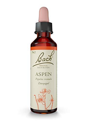 Original Bachblüten Tropfen Nr. 2 Aspen: Fühlen Sie sich sicher mit der Bach-Blüte Zitterpappel, 20ml