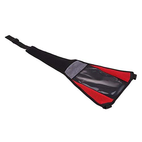MeterBew1147 Road Mountain Bike Sweat Cover Impermeable Bike Turbo Trainer Sweat Absorb Guard Strap Net Cover con Funda para teléfono - Negro Rojo Modelo Mejorado