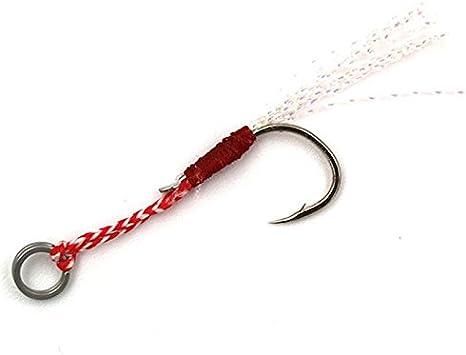 Oferta amazon: TOOGOO 5pzs / Lote Cuchara Jigging de Acero Inoxidable Gancho de Pesca con Pluma y Anillo Placa Anzuelo Ayuda de Corchete Gancho de Agua Salada 12# Talla 13#