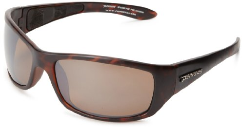 Pepper's Cutthroat Polarized Sport Sunglasses, Dark Tortoise, One Size