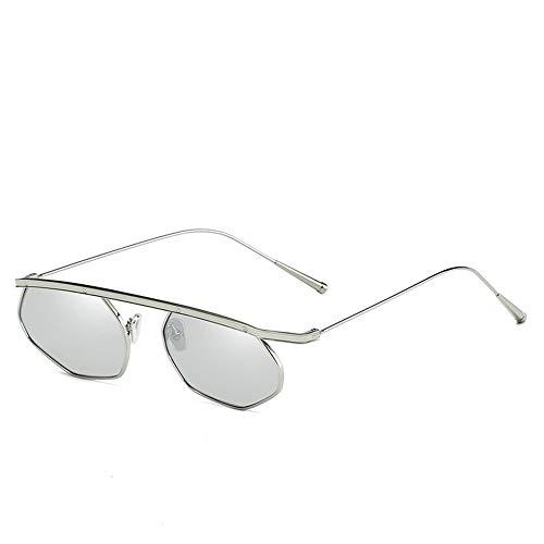 FASDFE Gafas de sol Personalidad Gafas con montura metálica Hd Ocean Film...