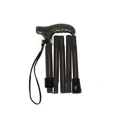超軽量オールカーボンコンパクト折りたたみ伸縮杖/ブラックPC03