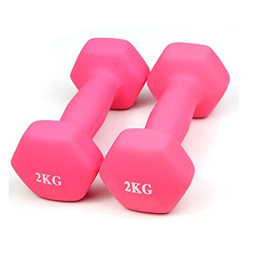 Dumbell Weights Dumbell Set 2kg,3kg,4kg Dumbbells for Women and Men Small Hand Weights Set for Bodybuilding Fitness Weight Lifting Training Home Gym Equipmentpink-2kg