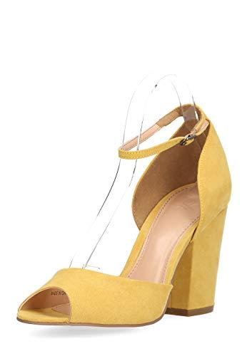 Benetton Damen Peeptoes Schuhe High Heels Peep Pumps Designer