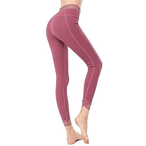 dfksd Leggings Deportivos Medias de Cintura Alta Ropa Deportiva para Mujeres Gimnasio Yoga Pantalones para Correr Entrenamiento Leggings Deportivos XL Rosa