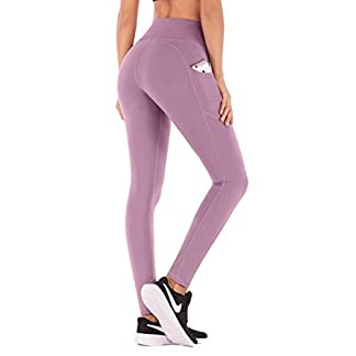 IUGA Yoga Pants with Pockets, Tummy Control, Workout Running Leggings with Pockets for Women 5