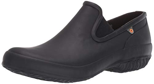 BOGS Women's Patch Slip on Garden Clog, Black, 9