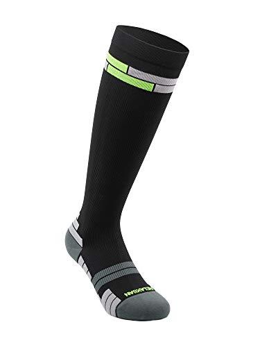 Relaxsan 800 Sport Socks (Nero/Verde, 3S) – Calze sportive compressione graduata Fibra Dryarn massime prestazioni