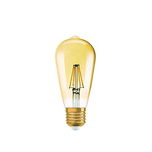 Osram Led Vintage Edition 1906 Lamp, In Edison Vorm met E27-Fitting, Dimbaar, Vervangt 55 Watt, Helder, Warmwit - 2500 Kelvin, Per Stuk Verpakt