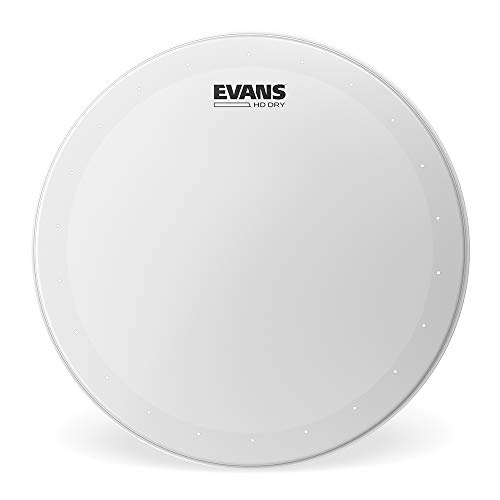 Evans Genera HD Dry Snare Drum Head, 13 (White) Coated Drum Head Made Using Two Plies of Film Overtone Ring Controls Sustain  Small Vent Holes Eliminate Stray Harmonics Great for Live and Studio