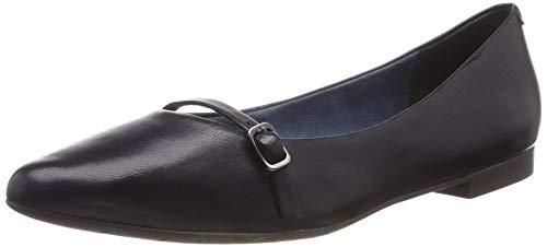 Tamaris Damen 1-1-24234-22 848 Slipper, Blau (Navy Leather 848), 38 EU