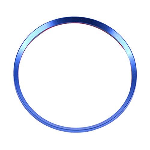 CITALL Autocollant de cache roue logo enjoliveur anneau décoratif doré - BLEU