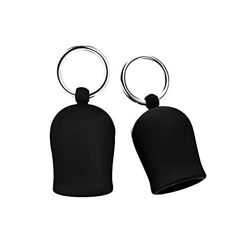 eeddoo Nippelsucker aus Silikon in schwarz mit Edelstahlringen