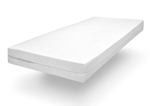 sleepling Polyester Comfort 100 Evolon Encasing Mattress Cover, Allergy and Anti Mite Protection for Dust Allergy Sufferers up to 20 cm High 100 x 200 x 20 cm White