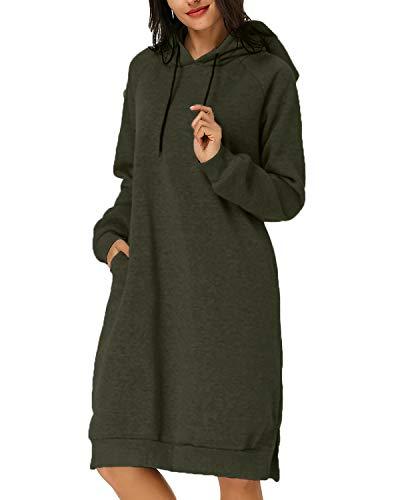 Kidsform Winter Pullover Damen Warm Grün M