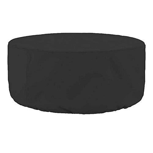 ZXHQ Redonda Cubierta Mesa Patio 185x110cm, Funda Muebles JardíN, Protectora Mesas JardíN Resistente Impermeable A Prueba Viento Anti Rayos UV para Mesas Y Sillas Sofa