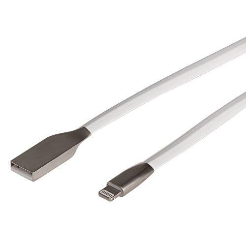 Maclean MCTV-832 8-pins stekker Lightning naar USB AN-bus adapter verlengkabel voor iPhone/iPad/iPad (wit)