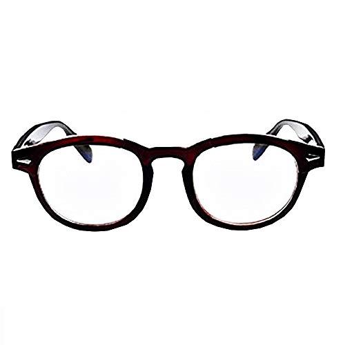 Gafas Johnny Depp para hombre - mujer - moda - lentes transparentes - no graduadas - retro - estilo moscot - marrn - idea de regalo de cumpleaos