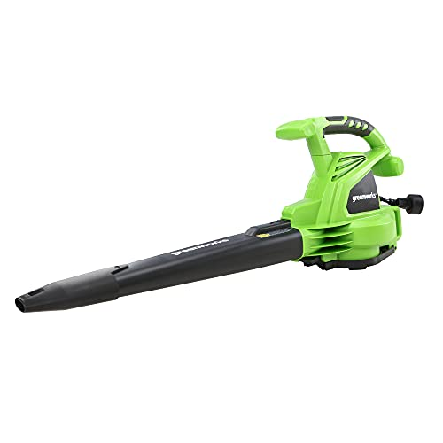 blower vacs Greenworks 12 Amp 235MPH Variable Speed Corded Blower/Vac includes Metal Repeller, 24072