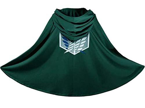 Attack on Titan Japanese Anime Shingeki no Kyojin Cloak Cape Clothes Cosplay Green