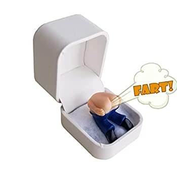 The Moon Ring -  It Farts When You Open it!  Birthday Gag Gift!  Ring box containing farting butt no ring  AS SEEN ON THE BACHELORETTE 2020