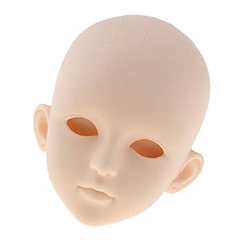 Fityle 1/4 BJD Female Doll Plastic No Makeup Head Sculpt Without Eyes DIY Parts Kits