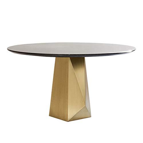 XINTONGSPP Naturmarmor Runde Tisch, kreative runde Art Esstisch, Moderne einfache Runde Verhandlungstisch/Konferenztisch, 100 * 75cm