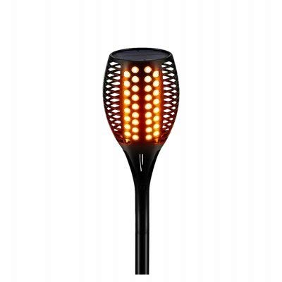 Exhart Environmental Systems 241426 Four Seasons Courtyard Solar Flickering Flame Torch Pathway Light Stake44; Pack of 2