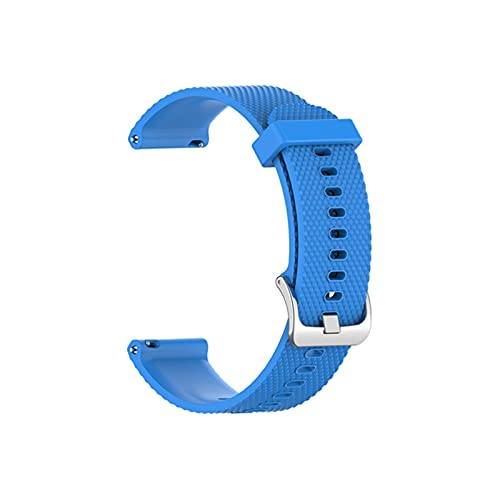 HENHEN Jun store - Correa de repuesto para Garmin Vivoactive 4 texturas, de silicona colorida, compatible con accesorios de reloj inteligente Garmin (color de la correa: azul cielo, tamaño: 22 mm)
