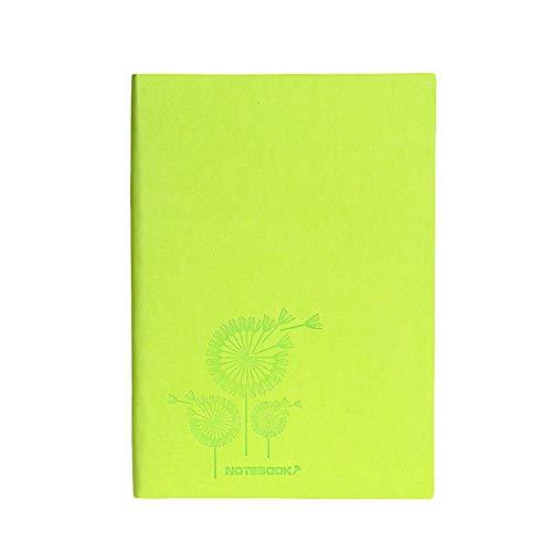 Cosanter Notizheft A5 Schulblock Taschenbuch mit Weichem Oberfläche Notepad 80 g Dowling-Papier 200 Seiten 21.2*14.8cm GrüN
