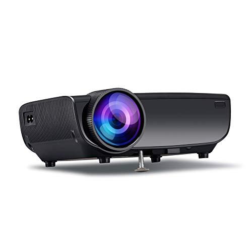 Proyector Mini proyector proyector de vídeo al aire libre del proyector de película de cine en casa proyector 1080P compatibles proyector compatible con TV Stick, PS4, HDMI, VGA, AV y USB Mini proyect