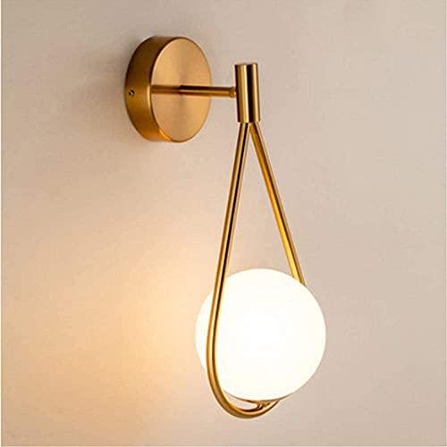 Moderne minimalistische Messing Wandlampe Globus Molekularglas Kugel Wandlampe Wand Nachttischlampe Schlafzimmer Esszimmer Wohnzimmer Küche Esszimmer Bad Spiegel Wandlampe E27 Wandlampe