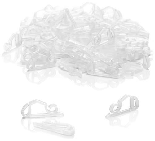 com-four® 100x Dachrinnenhaken für Lichterketten - Regenrinnen-Haken aus Kunststoff - Befestigung für Weihnachtsaußenbeleuchtung