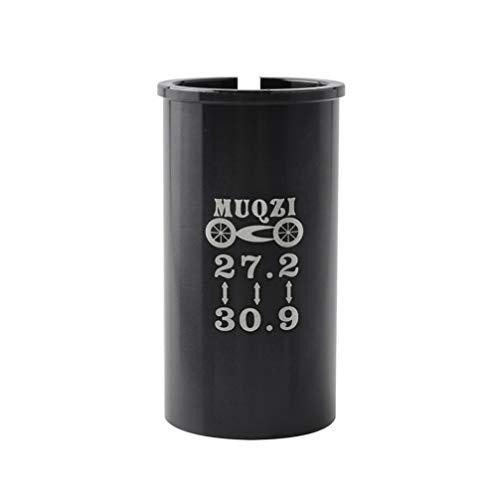 Tubo adaptador para tija de sillín de bicicleta, manguito reductor de 27,2 a 30,9 para bicicleta de montaña, de carreras, MTB, BMX, color negro