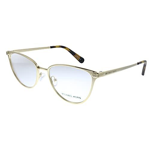 Michael Kors Cairo MK 3049 1014 Gafas de sol de ojo de gato de plástico brillante dorado claro Demo