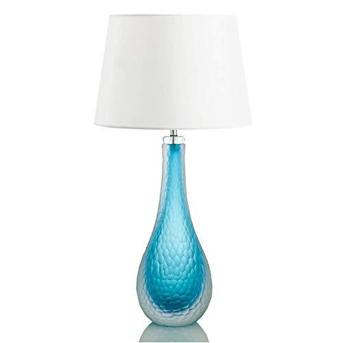 Hirl blauw tafellamp, minimalistisch, modern, glas, tafellamp, vaas, creatieve verlichting, designer-design, bedlampje, bar, tafellamp, personaliseerbaar