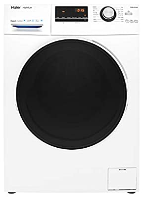 Haier HW80-B14636 Freestanding Washing Machine, LED Display, 1400 RPM, 8kg Load, White