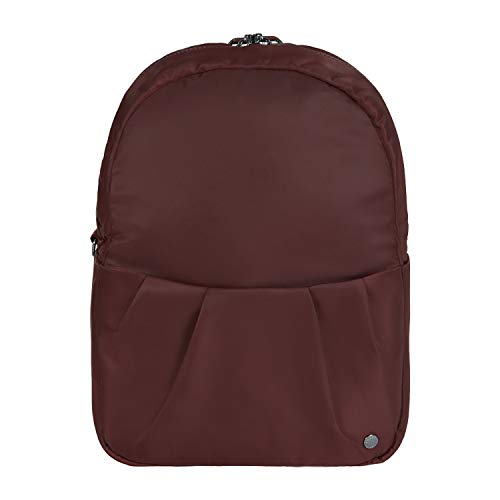 Pacsafe Citysafe CX convertible backpack, verwandelbarer Rucksack, Umhängetasche mit Diebstahlschutz, Weinrot/Merlot