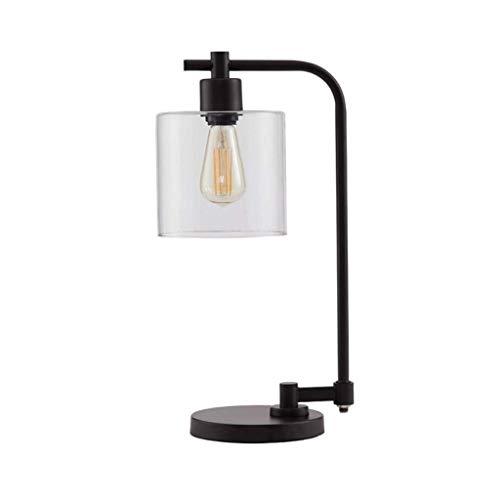 YWSZJ Nordic Tabla Creativa de la lámpara, Personalidad Dormitorio con Estilo lámpara de cabecera turística Hierro Forjado lámpara de Mesa