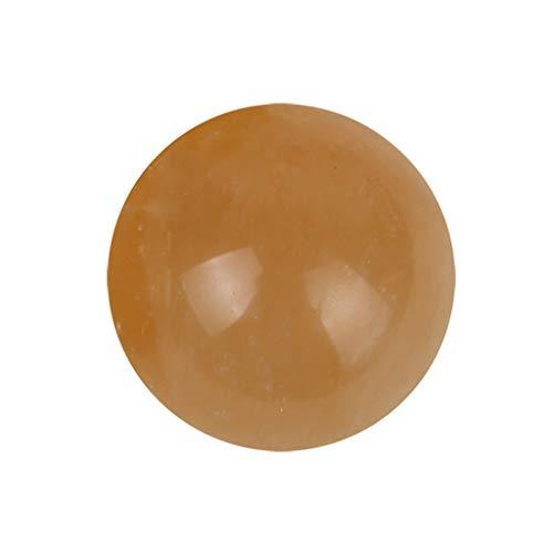 Gaoqi 1pcs 40mm Natural Citrine Quartz Crystal Esfera Bola de Piedras Preciosas curativas