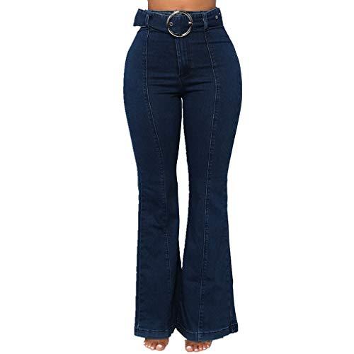 FRAUIT Slim Jeans voor dames, stretch flared jeans, tassen, pluisknop, casual oplakbroek, gesp met uitgestelde jeans, broek, elegant, mooi streetwear