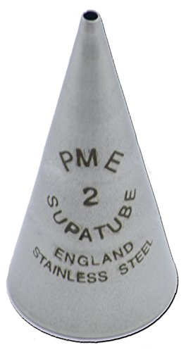 PME SUGARCRAFT PME Seamless Stainless Supatube Decorating Tip # 2, Standard, Silver