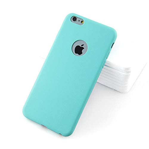 XUEYAN521 Telefono Caso Luxury Soft Silicone Candy Color Case for iPhone XS Max XR X 10 8 7 6 5 S 5S 5SE 6S Plus 7Plus 8Plus 6Plus Cell Phone Back Cover-for iPhone 6 6s-Light Blue