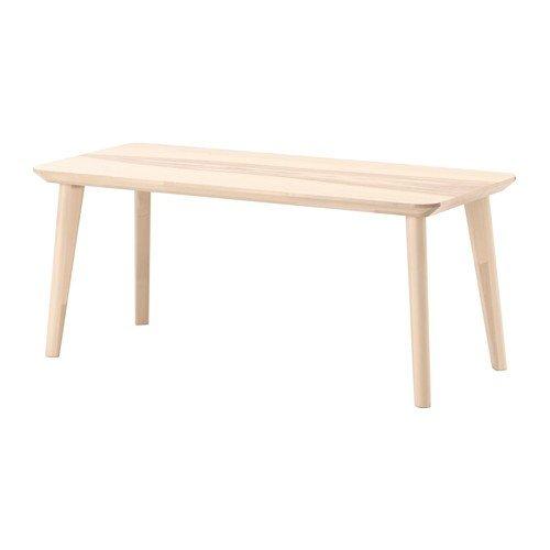Ikea Mesa de centro Lisabo de chapa de fresno, (118 x 50...