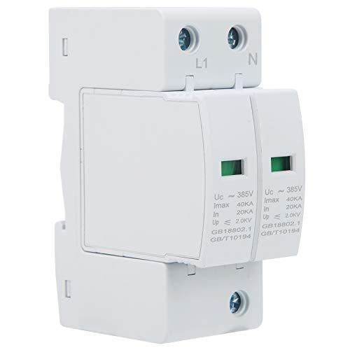 Dispositivo de Protección contra Sobretensiones Instalación en Carril DIN de la Casa Módulo Anti-Thunder Supresor de Voltaje PC Materia Retardante de Llama Segly-40ka 2p